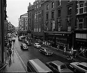 03/09/1971<br /> 09/03/1971<br /> 03 September 1971<br /> Traffic on Grafton Street three days before the street was pedestrianised, Dublin.