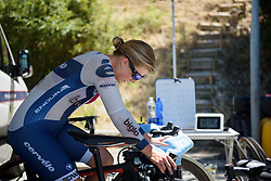 Lotta Lepisto warms up for Stage 5 of the Giro Rosa - a 12.7 km individual time trial, starting and finishing in Sant'Elpido A Mare on July 4, 2017, in Fermo, Italy. (Photo by Sean Robinson/Velofocus.com)