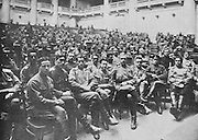 Congress of the Army Delegates of the Front, in the Duma assembly hall at the Palace of Tauride (seat of the Provisional Government after the February Revolution), in Petrograd, later St Petersburg, Russia, resulting in the passing of resolutions affirming that war must be carried out to the end, for peace without annexations, photograph published in L'Illustration no.3876, 16th June 1917. Picture by Manuel Cohen