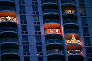 Christmas lights, Honolulu, Hawaii<br />