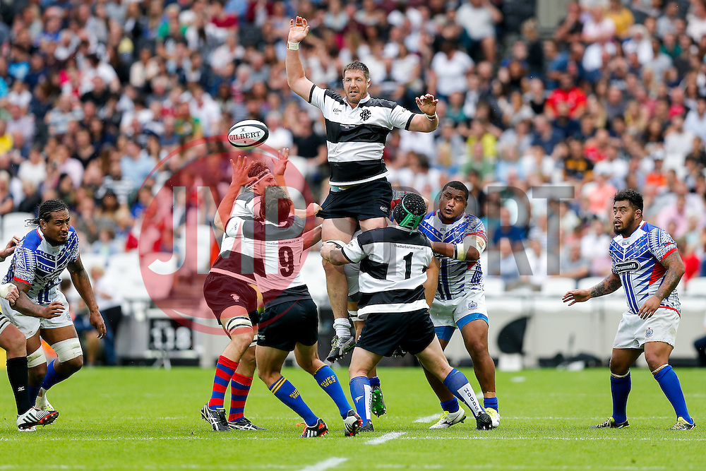 Barbarians Lock Bakkies Botha (South Africa, Captain) wins a lineout - Mandatory byline: Rogan Thomson/JMP - 07966 386802 - 29/08/2015 - RUGBY UNION - The Stadium at Queen Elizabeth Olympic Park - London, England - Barbarians v Samoa - International Friendly.