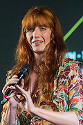 Florence Welch introduces her new film Odyssey which covers the songs in her latest album - The 2016 Latitude Festival, Henham Park, Suffolk.
