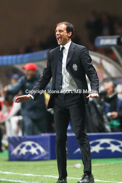 Massimiliano ALLEGRI  - 22.04.2015 - Monaco / Juventus Turin - 1/4Finale retour Champions League<br />Photo : Serge Haouzi / Icon Sport