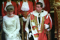 The Prince and Princess of Wales attend the State opening of Parliament. *DECEMBER 9th 1992: On this day in 1992 Prince Charles and Princess Diana announced their separation.