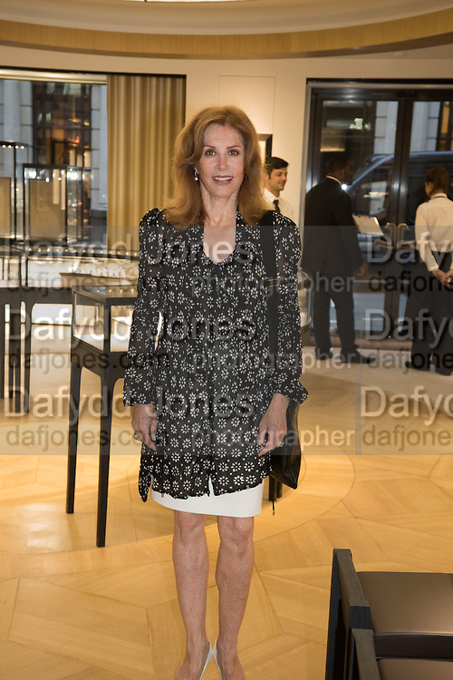 STEPHANIE POWERS, preview of 'UNBRIDLED SYNCHRONY', an exhibition of works by photographer Astrid Muñoz. Jaeger-LeCoultre Boutique<br /> 13 Old Bond Street. London. 13 July 2015