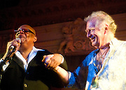Chris Blackwell and Prince Miller on stage at the London Empire 2009