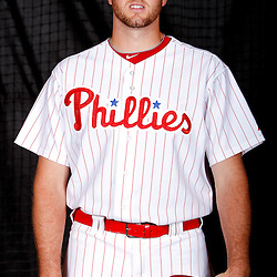 February 22, 2011; Clearwater, FL, USA; Philadelphia Phillies relief pitcher Scott Mathieson (47) poses during photo day at Bright House Networks Field. Mandatory Credit: Derick E. Hingle