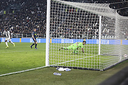 March 8, 2019 - Turin, Piedmont, Italy - Moise Kean (Juventus FC) scores his second goal during the Serie A football match between Juventus FC and Udinese Calcio at Allianz Stadium on March 08, 2019 in Turin, Italy..Juventus won 4-1 over Udinese. (Credit Image: © Massimiliano Ferraro/NurPhoto via ZUMA Press)