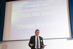 Robin Wilkinson (HR Director) speaking at the Respect Annual conference 2010 at Prison Service college Newbold Revel