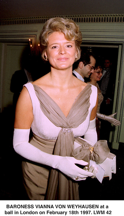 BARONESS VIANNA VON WEYHAUSEN at a ball in London on February 18th 1997.LWM 42
