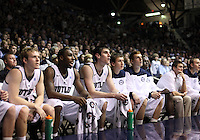 November 23, 2011: Butler players watch from the bench during a close game against Gardner-Webb at Hinkle Fieldhouse in Indianapolis, Ind. Butler won 68-66.