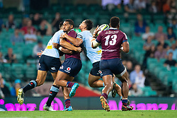 March 9, 2019 - Sydney, NSW, U.S. - SYDNEY, NSW - MARCH 09: Reds player Samu Kerevi (13) takes the loose ball at round 4 of Super Rugby between NSW Waratahs and Queensland Reds on March 09, 2019 at The Sydney Cricket Ground, NSW. (Photo by Speed Media/Icon Sportswire) (Credit Image: © Speed Media/Icon SMI via ZUMA Press)