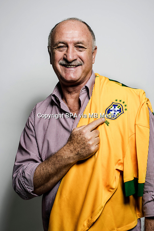 Football Fifa World Cup Brazil 2014 / <br /> Brazil National Team - <br /> Luis Felipe Scolari &quot; FELIPAO &quot; - Coach of Brazil -<br /> Private Session