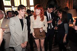 Singers JOHNNY BORRELL and FLORENCE WELCH at a party to celebrate the publication of Imperial Bedrooms by Bret Easton Ellis held at Mark's Club, 46 Charles Street, London W1 on 15th July 2010.