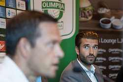 Nenad Protega and Luka Elsner at press conference of NK Olimpija Ljubljana about new head coach Luka Elsner, on September 2, 2016 in Champions Lounge, Austria Trend Hotel, Ljubljana, Slovenia. Photo By Matic Klansek Velej / Sportida