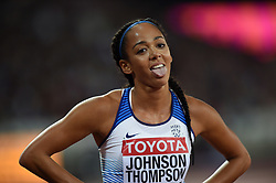 Katarina Johnson-Thompson of Great Britain looks on - Mandatory byline: Patrick Khachfe/JMP - 07966 386802 - 06/08/2017 - ATHLETICS - London Stadium - London, England - 800m Heptathlon - IAAF World Championships