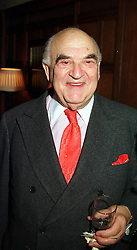 LORD WEIDENFELD at a reception in London on 10th November 1999.MYZ 1
