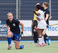 UTRECHT -  Marieke Dijkstra  tijdens de finale Veteranen hoofdklasse A dames tussen Kampong en Amsterdam. Kampong wint na shoot out. COPYRIGHT KOEN SUYK