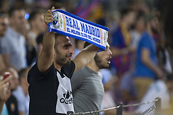 August 13, 2017 - Barcelona, Spain - Real Madrid fan during the match between FC Barcelona - Real Madrid, for the first leg of the Spanish Supercup, held at Camp Nou Stadium on 13th August 2017 in Barcelona, Spain. (Credit: Urbanandsport / NurPhoto) (Credit Image: © Urbanandsport/NurPhoto via ZUMA Press)