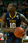 WACO, TX - JANUARY 28: Eron Harris #10 of the West Virginia Mountaineers brings the ball up court against the Baylor Bears on January 28, 2014 at the Ferrell Center in Waco, Texas.  (Photo by Cooper Neill/Getty Images) *** Local Caption *** Eron Harris