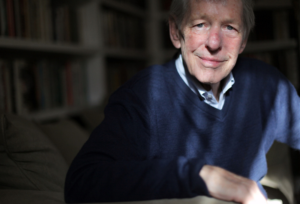"""Author Robert Massie is photographed at his home in Irvington on Jan. 4, 2012. Massie, a Pulitzer Prize winning author and longtime Irvington resident, recently published """"Catherine the Great: Portrait of a Woman.""""( Xavier Mascareñas / The Journal News )"""