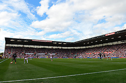 A general view of the Britannia Stadium as Stoke City play Liverpool in the Barclays Premier League - Mandatory byline: Dougie Allward/JMP - 07966386802 - 09/08/2015 - FOOTBALL - Britannia Stadium -Stoke-On-Trent,England - Stoke City v Liverpool - Barclays Premier League