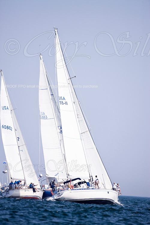 Haerlem, class 12, sailing at the start of the Newport Bermuda Race 2010. The race began in Newport, Rhode Island on June 18, 2010.