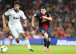 Lionel Messi in action. Barcelona v Real Madrid, Supercopa first leg, Camp Nou, Barcelona, 23rd August 2012...Credit : Eoin Mundow/Cleva Media