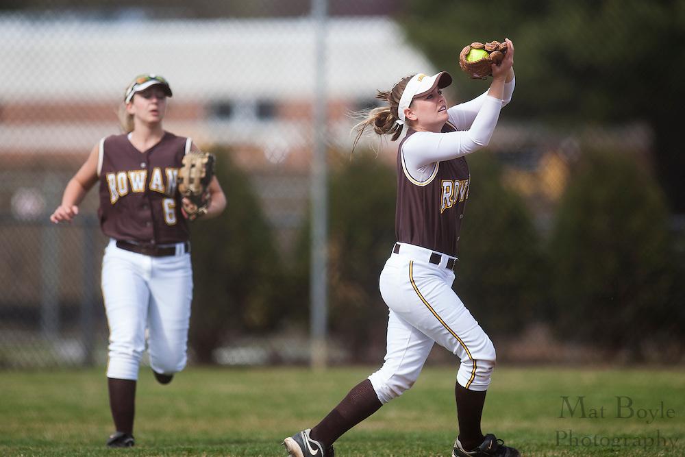 Rowan University Softball Senior Ashley Minch (1); Rowan University Softball vs. Centenary College in Glassboro, NJ on Tuesday March 20, 2012. (photo / Mat Boyle)