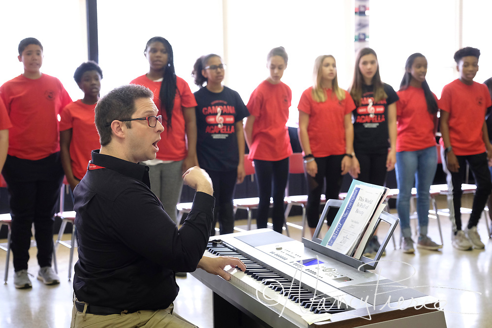 Alexander Middle School Advanced Chorus with conductor Christopher Brown