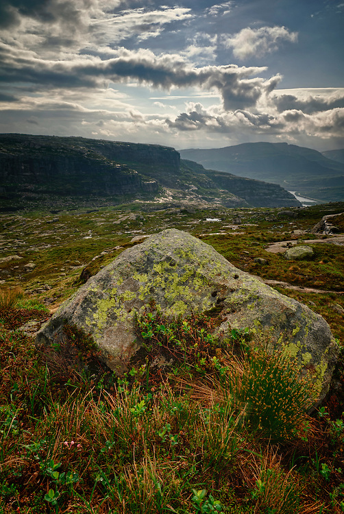 View towards Sirdalen, Vest Agder, Norway.