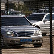 NLD/AmsterdamHuizen/20050713 - Aankomst van Mariah Carey op Schiphol met haar privejet.auto's, beveiliging