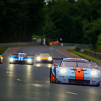 #86, Gulf Racing, Porsche 911 RSR, LMGTE Am, driven by: Michael Wainwright, Ben Barker, Alexander Davison, 24 Heures Du Mans  2018, , 14/06/2018,