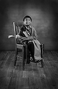 Jacoby Begay, 5, Diné, gourd dancer from Window Rock, Ariz.