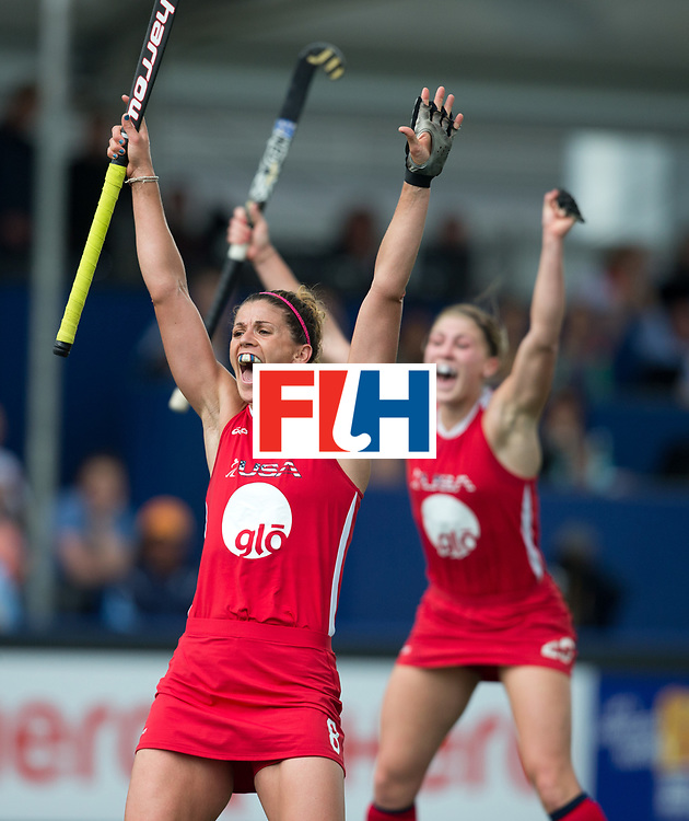 Hockey World Cup 2014<br /> The Hague, Netherlands <br /> Day 4 Women USA v Argentina<br /> <br /> Photo: Grant Treeby<br /> www.treebyimages.com.au