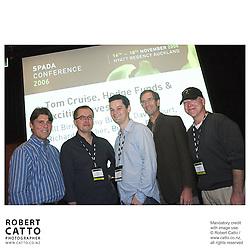 Bill Birnie;David Court;Richard Fletcher;Tony Bishop;Bingham Ray at the Spada Conference 06 at the Hyatt Regency Hotel, Auckland, New Zealand.<br />