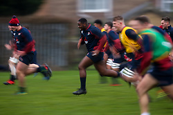 Emmanuel Iyogun of England U20 in action during training ahead of the Under 20s Six Nations - Mandatory by-line: Robbie Stephenson/JMP - 14/01/2020 - RUGBY - Loughborough University - Loughborough, England - England U20s Training