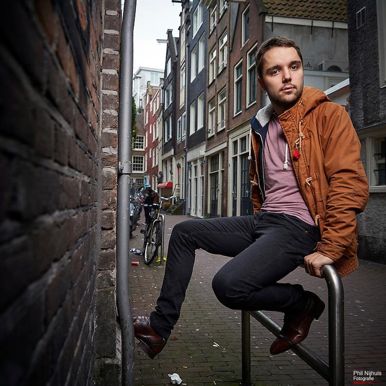 Amsterdam ,19 oktober 2015 -  Lyle Muns de nieuwe voorzitter van Dwars, de jongerenorganisatie van GroenLinks. Foto: Phil Nijhuis