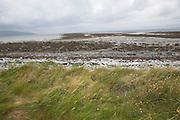 Coastal landscape of rocky shore near Ballyvaughan, County Clare, Ireland