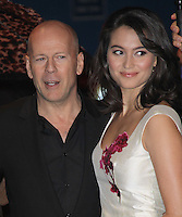Bruce Willis; Emma Heming Red UK Premiere, Royal Festival Hall, Southbank, London, UK, 19 October 2010: For piQtured Sales contact: Ian@Piqtured.com +44(0)791 626 2580 (picture by Richard Goldschmidt)