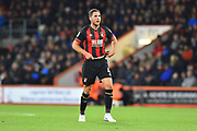 Dan Gosling (4) of AFC Bournemouth during the EFL Cup 4th round match between Bournemouth and Norwich City at the Vitality Stadium, Bournemouth, England on 30 October 2018.