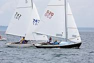 _V0A8097. ©2014 Chip Riegel / www.chipriegel.com. The 2014 Bullseye Class National Regatta, Fishers Island, NY, USA, 07/19/2014. The Bullseye is a Nathaniel Herreshoff designed 15' Marconi rig sailing boat.