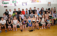 Members of the class of 2016 gather for a group photo at the end of the 8th grade recognition ceremony at Cleveland PK-8 School in Dayton, May 25, 2012.