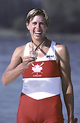 Barcelona Olympics 1992 - Lake Banyoles, SPAIN, CAN W1X Silken Laumann  shows her Bronze medal - Peter Spurrier Sports Photo. Mobile 44 (0) 973 819 551, email images@intersport-images.com.       {Mandatory Credit: © Peter Spurrier/Intersport Images]..........       {Mandatory Credit: © Peter Spurrier/Intersport Images]..........       {Mandatory Credit: © Peter Spurrier/Intersport Images].........