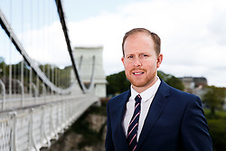 Bristol Sport's Chief of Stadium Operations at Ashton Gate, Mark Kelly, poses for a headshot by the famous Clifton Suspension Bridge - Photo mandatory by-line: Rogan Thomson/JMP - Mobile: 07966 386802 - 19/05/2015 - SPORT - Bristol, England - Clifton Suspension Bridge - Bristol Sport Staff Headshots.