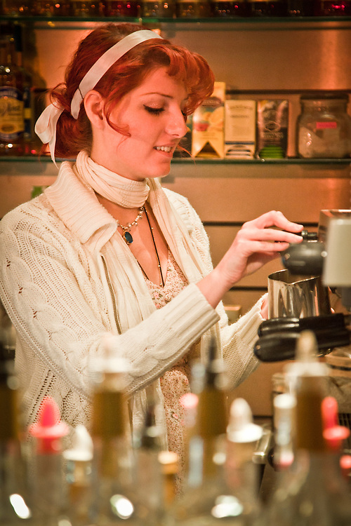 Barista, Claire Kiernan, The French Bean, mid-town, Anchorage