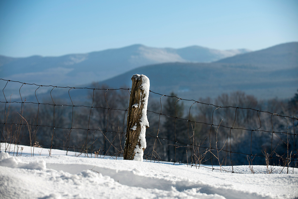 Winter morning in Brandon, Vermont.