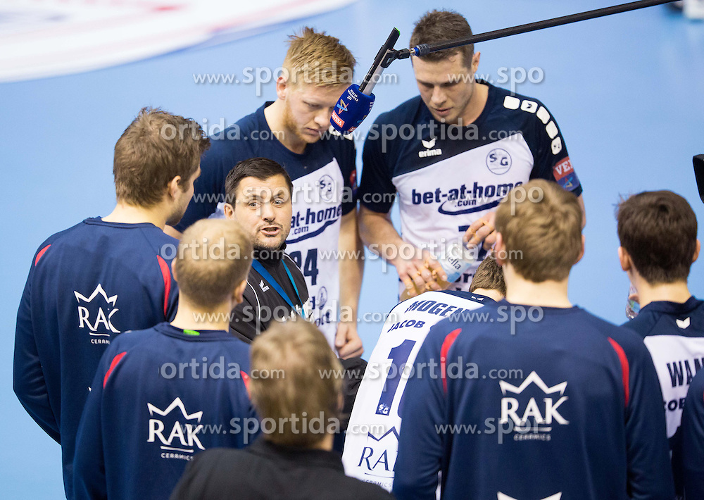 Trainer Ljubomir Vranjes of SG Flensburg-Handewitt during the handball match between RK Gorenje Velenje and SG Flensburg-Handewitt (GER) in 10th Round of EHF Champions League 2013/14 on February 22, 2014 in Rdeca dvorana, Velenje, Slovenia.  *** Local Caption *** &Atilde;'&Acirc;&copy; pixathlon<br /> <br /> FRA out ! FRA out!