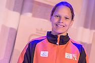 02-06-2015: Nieuws: Presentatie selectie Europese Spelen: Papendal<br /> <br /> (L-R) Kanovaarster Eef Haaze<br /> <br /> European Games Team NL bestaat tijdens de eerste editie van het evenement in Baku uit 120 topsporters. Zij komen in totaal uit in zeventien sporten en nemen deel aan 24 disciplines. Chef de mission is Jeroen Bijl<br /> <br /> NOVUM COPYRIGHT / ORANGE PICTURES / GERTJAN KOOIJ