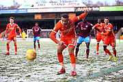 Shrewsbury Town forward Carlton Morris (9)  during the EFL Sky Bet League 1 match between Scunthorpe United and Shrewsbury Town at Glanford Park, Scunthorpe, England on 17 March 2018. Picture by Mick Atkins.